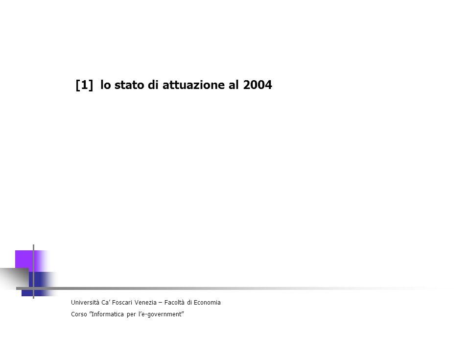 [1] lo stato di attuazione al 2004